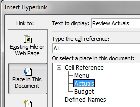 Excel: Use Hyperlinks to Create an Opening Menu for a Workbook