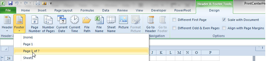 Excel: How to Print Page Numbers at the Bottom of Each Page