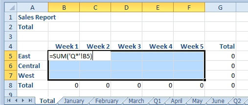 Excel: Add B5 On All Worksheets - Excel Articles