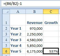 how to find growth rate in excel