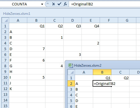 Excel: Stop Showing Zeroes in Cell Links - Excel Articles
