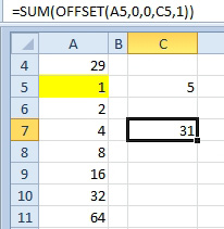 Excel: SUM a Range that is C5 Rows Tall - Excel Articles