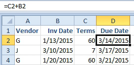 Excel: Calculate Invoice Due Dates - Excel Articles