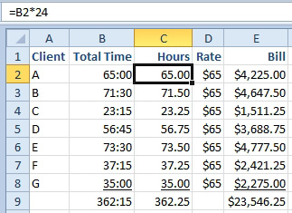 Multiply Times By 24 To Get Hours