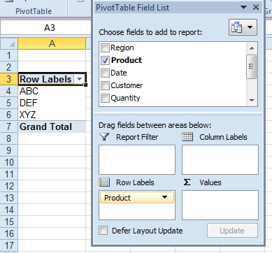 Excel Use A Pivot Table To Summarize Detailed Data Excel