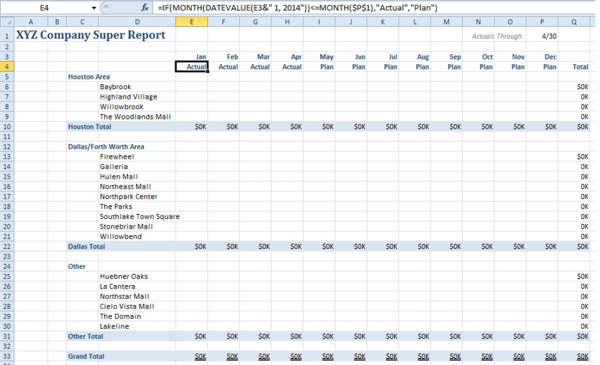 Excel can i save formatting in a template for Html table formatting